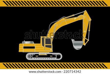 excavator construction machinery equipment  - stock photo