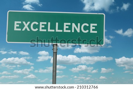 Excellence creative sign - stock photo