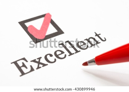 Excellent check boxes - stock photo