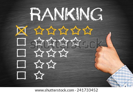 Excellent Ranking - Five Stars - stock photo