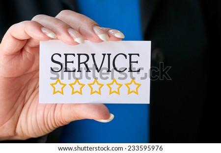 Excellent Service - Five Stars - stock photo