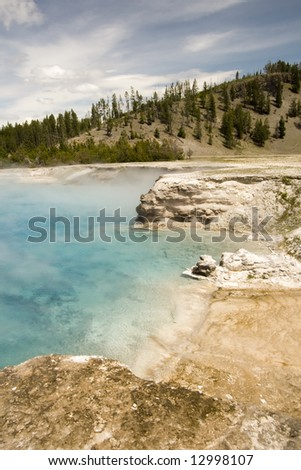Excelsior Geyser, Yellowstone National Park, WY - stock photo