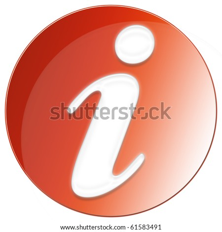 Exclamation Icon - red color - stock photo