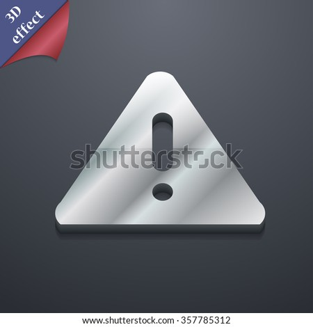 exclamation mark, Attention caution icon symbol. 3D style. Trendy, modern design with space for your text illustration - stock photo