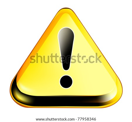 Exclamation mark, bitmap copy - stock photo