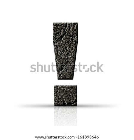 exclamation mark cement texture - stock photo