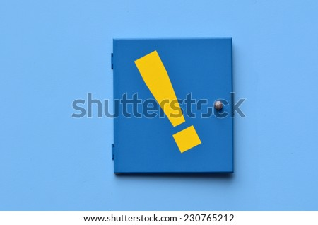 Exclamation mark - exclamation point background.Concept photo of strong feelings. - stock photo