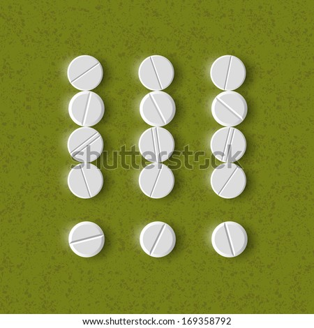 exclamation mark of the pills