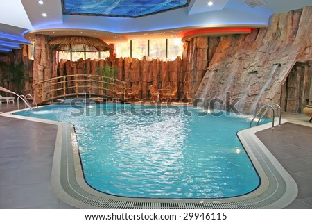 Exclusive closed swimming pool - stock photo
