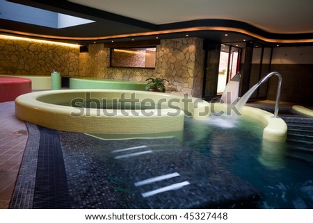 exclusive swimming pool in a hotel - stock photo