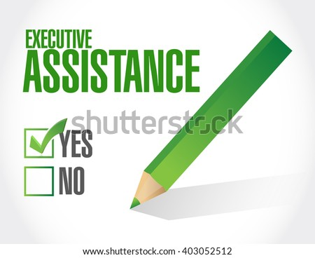 executive assistance approval sign concept illustration design graphic - stock photo