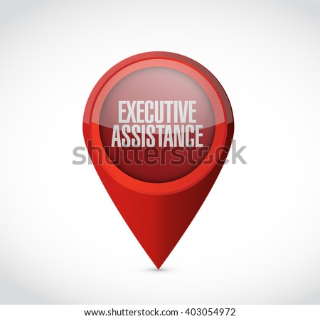 executive assistance pointer sign concept illustration design graphic - stock photo