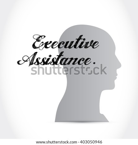 executive assistance thinking brain sign concept illustration design graphic - stock photo