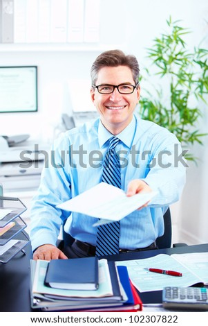 Executive businessman. Working at a modern office. - stock photo