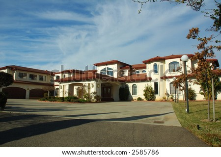 Executive custom house in Northern California - stock photo