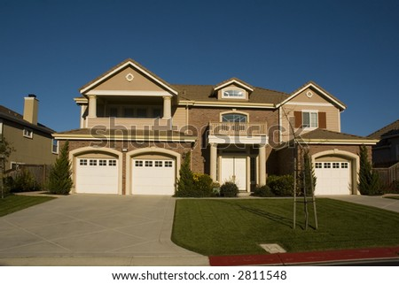 Executive home in Northern California - stock photo