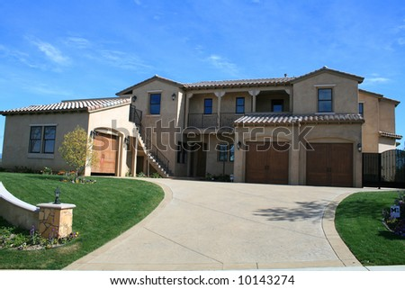 Executive Mansion in Southern California. - stock photo