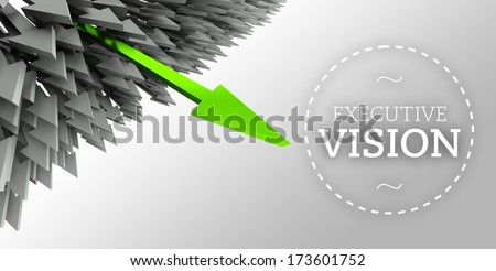 Executive vision with arrow individuality concept - stock photo