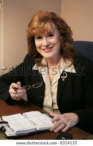 Executive Woman Portrait in office - stock photo
