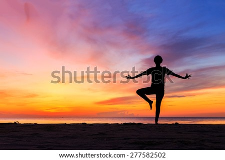 Exercise by doing Yoga by the Sea.