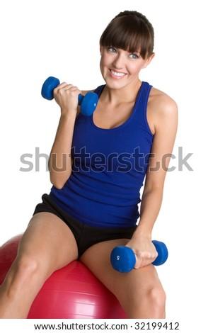 Exercise Girl - stock photo