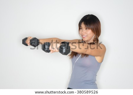 Exercise series : Thai woman exercising