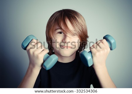 exercise - strength of youth - stock photo