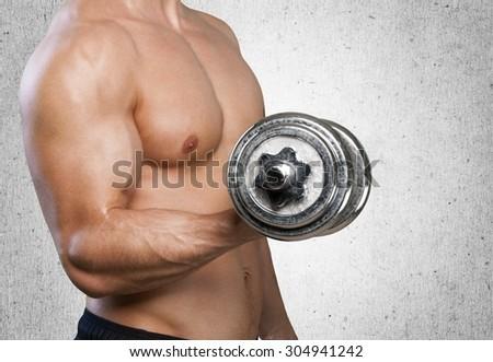 Exercising. - stock photo