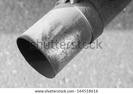 Exhaust Pipe - stock photo