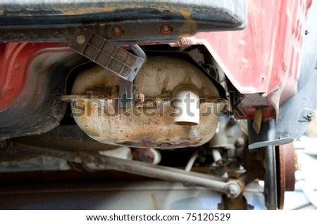 Exhaust pipe for car - stock photo