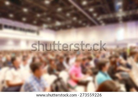 exhibition fair blurred - stock photo