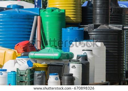 exhibition of plastic water tanks