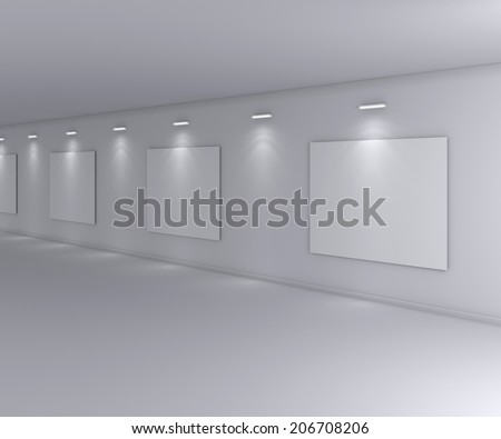 Exhibition space. - stock photo