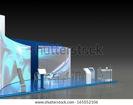 Exhibition Stand Interior - Exterior Sample - stock photo