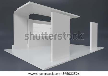 Exhibition Stand White : D exhibition booth stock images royalty free