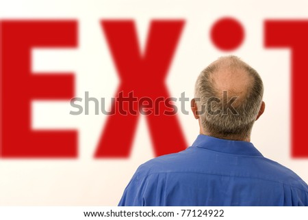 Exit concepts - stock photo