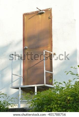 exit fire door - stock photo