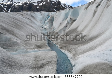 Exit Glacier, Seward, Alaska - stock photo