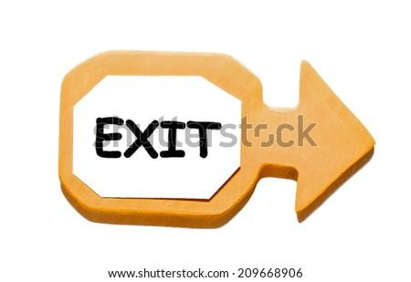exit  --  illustration - stock photo
