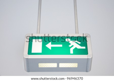 exit sign - stock photo