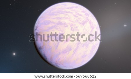 Exoplanet 3D illustration Venus (Elements of this image furnished by NASA)