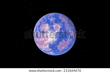 Exoplanet, far away fantastic super Earth - stock photo