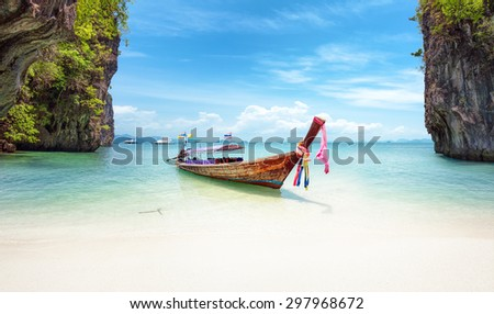 Exotic beach in Thailand. Asia travel destinations and tropical nature landscapes - stock photo
