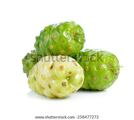 Exotic Fruit - Noni isolated on white background - stock photo