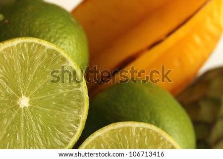 exotic fruits - stock photo