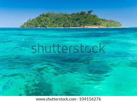 Exotic Getaway Green Fantasy - stock photo