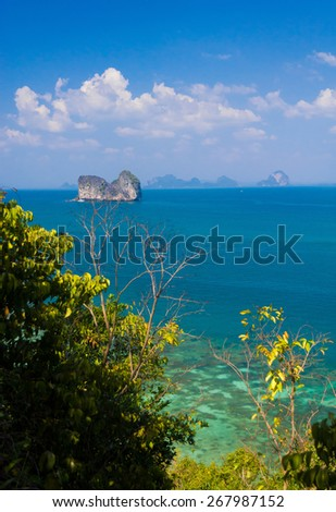 Exotic Getaway Idyllic Seascape  - stock photo