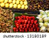 exotic herbs and fruits - stock photo