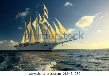 Exotic holidays. Yachting Caribbean - stock photo