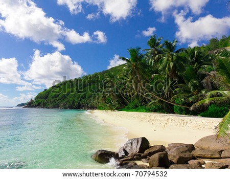 Exotic Ocean Seascape - stock photo